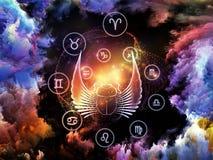 Astrologibakgrund Arkivfoto