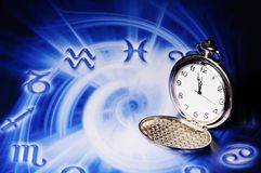 astrological время стоковое изображение