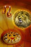 astrological знак leo иллюстрация штока