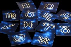 Astrological cards Stock Photography