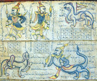 Astrological chart on Burmese calendar Royalty Free Stock Photos