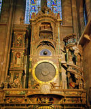 Astrological clock. In Strasbourg Cathedral royalty free stock photo