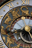 Astrological clock Stock Image
