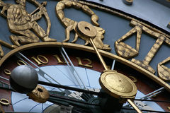 Astrological clock Royalty Free Stock Photos