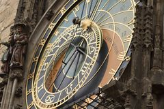 Astrological clock in Prague, Czech Republic Royalty Free Stock Images