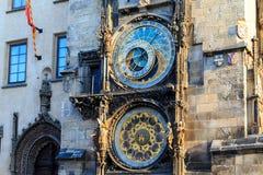 Astrological clock in prague, Czech Republic Stock Photography