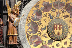 Astrological clock. In Prague town centre stock images