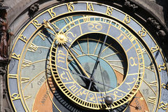 Astrological clock. In Prague town centre royalty free stock photo