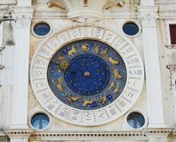 Astrological clock in St. Mark's Square, Venice, Italy Stock Photos