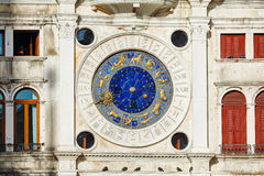 Astrological clock at Torre dell'Orologio in Venice Royalty Free Stock Photos
