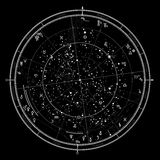 Astrological horoscope on January 1, 2017. Stock Photography