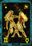 Astrological Illustration: Gemini. Royalty Free Stock Photography