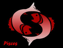 Astrological sign pisces  Stock Images