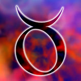 Astrological sign taurus. Astrologic symbol of sign taurus royalty free illustration
