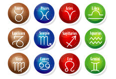 12 astrological signs Stock Image