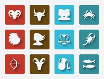 Astrological signs set Royalty Free Stock Photo