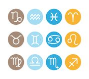 12 astrological signs. Vector zodiac icons set. royalty free stock photography