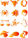 Astrological signs of Zodiac. Set of the 12 astrological signs of Zodiac Stock Images