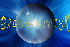 Astrological sphere royalty free illustration
