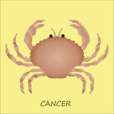 Astrological symbol of crab or cancer Stock Photo