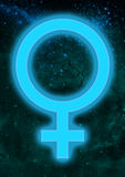 Astrological Symbol of Venus Royalty Free Stock Images