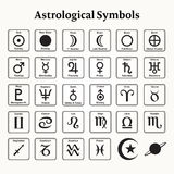 Astrological Symbols Royalty Free Stock Photos