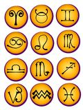 Astrological Symbols Icons Stock Images