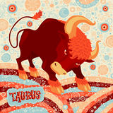 Astrological zodiac sign Taurus. Part of a set of horoscope signs. Vector illustration Stock Photography