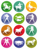 Astrological zodiac signs. Illustrated set of astrological zodiac signs on a white background Royalty Free Stock Images