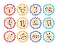 Astrologiczne ikony Obrazy Stock