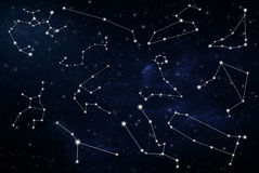 Astrologiczni zodiaków znaki Zdjęcia Royalty Free