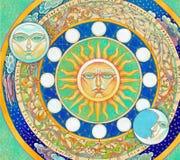 astrologiczny zegar Obrazy Royalty Free