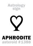 Astrologie : APHRODITE en forme d'étoile Photographie stock libre de droits