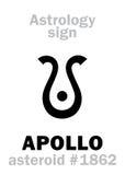 Astrologie : APOLLO en forme d'étoile illustration de vecteur