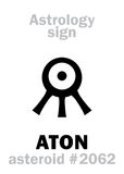 Astrologie : ATON en forme d'étoile Image stock
