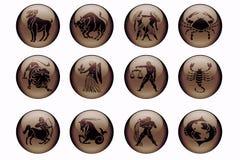 Astrologie in bruin Stock Foto