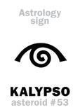 Astrologie : calypso en forme d'étoile de KALYPSO Photographie stock