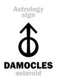 Astrologie : DAMOCLES en forme d'étoile Image libre de droits