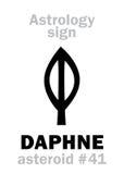 Astrologie : DAPHNE en forme d'étoile Photos libres de droits