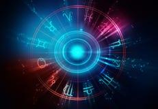 Astrologie en alchimieteken achtergrondillustratie stock illustratie