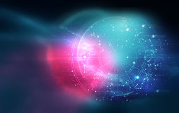 Astrologie en alchimieteken achtergrondillustratie vector illustratie