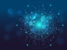 Astrologie en alchimieteken vectorillustratie als achtergrond vector illustratie