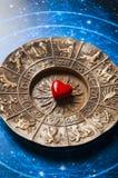 Astrologie en liefde Royalty-vrije Stock Afbeelding