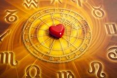 Astrologie en liefde stock afbeeldingen