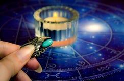 Astrologie en magische amulet Royalty-vrije Stock Afbeeldingen