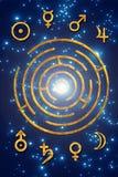 Astrologie en planeten stock illustratie