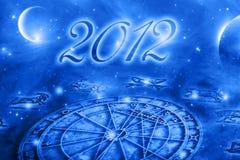 Astrologie et 2012 illustration de vecteur