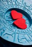 Astrologie et amour Photographie stock