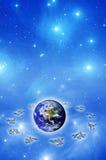 Astrologie et monde illustration de vecteur