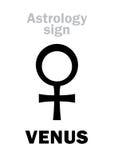 Astrologie : femelle de VÉNUS de planète Photographie stock libre de droits